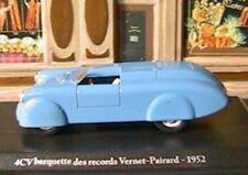 RENAULT 4CV BARQUETTE DES RECORDS VERNET-PAIRARD 1952  1/43 ELIGOR HACHETTE