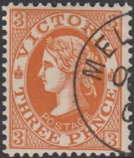 Stamp Victoria 3d brown queen sideface cancelled to order, October 1901, gum
