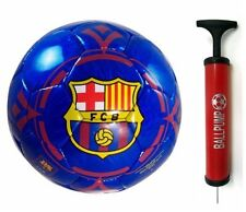 FC BARCELONA OFFICIAL SOCCER BALL SHINY BLUE WITH A BALL PUMP [Misc.]