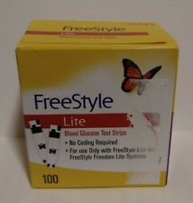 FreeStyle Lite Blood Glucose Test Strips 100CT Exp. 01/31/2023!