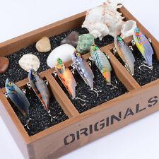 7pcs Lot VIB Wobblers Bait CrankBaits Tackle 8# Hooks Fishing Lures 5.5cm/9.4g