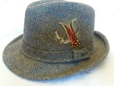 Vintage Pendleton Wool Tweed Hat Fedora Size 7 1/8 Made in USA