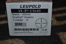 Leupold VX-R 3-9x40 Matte Black 30mm Tube Firedot Duplex 110686
