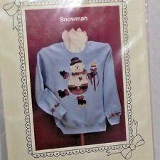 Snowman Doily Wear Ozark Craft DIY Sweatshirt Tshirt Sew Ugly Sweater Country