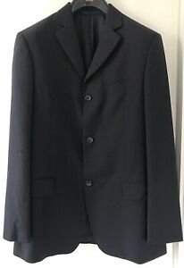 BRAND NEW FRENCH CONNECTION Navy Blue Stripe Wool Blazer Suit Jacket Size 38