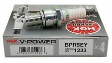 4 Plugs NGK BPR5EY/1233 V-POWER PREMIUM SPARK PLUGS