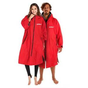 Shibui All Weather Waterproof Changing Surf Dry Robe Red / Grey Men & Womens
