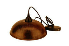 "Copper 10.5"" Dome Pendant Light Fixture To Match Sink"