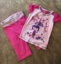 Jumping Beans & Kids Korner Outfit Girls Size 3-4 Pants Shirt Lot Pink