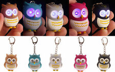 Cute Owl Keyring with LED Lights and Hooting Sound Novelty Key Rings Gift Lights