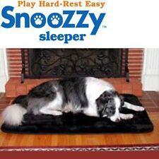 Snoozzy Sleeper Plush Non Slip Washable Dog Bed & Cat Mat - Mini Sz 1000 - Black