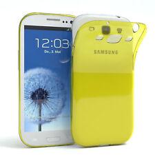 Ultra Slim Cover für Galaxy S3 / Neo Case Silikon Hülle Transparent Gelb