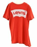 LEVI'S Boys Graphic T-Shirt Top 15-16 Years Red Cotton  MV42