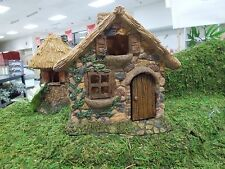 Mg30 Marshall Garden Thatched Roof Brick House Dollhouse Fairy Faerie Gnome