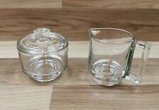 More details for vintage italian clear glass milk / jug & lidded sugar bowl - fidenza 1960s ??