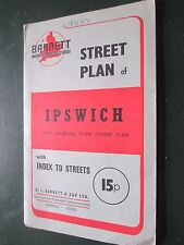 Barnett's street plan Ipswich with enlarged town centre    + index  70's