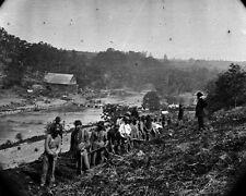 New 8x10 Civil War Photo: 50th New York Engineers at Jericho Mills, Virginia