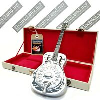 Mini Guitar MARK KNOPFLER dobro + hard case box scale 1:4 miniature collectible