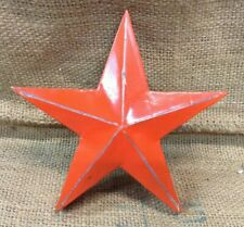 Handmade Metal Industrial Orange Retro Rustic Shabby Chic Hanging Star SU1183