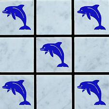 20 x Mattonelle Della Parete Delfino in Vinile Adesivi Decalcomanie trasferimento per piastrelle del bagno/cucina