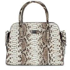 MICHAEL KORS NEW Gia Satchel Python Auth Black White Leather Bag Handbag Purse