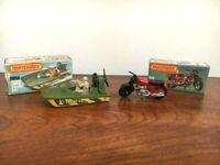 Matchbox Lesney Superfast #30 SWAMP RAT & $18 HONDARORA BIKE w/Boxes-HI-END