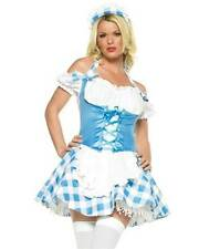 MARY ' S LITTLE LAMB lycra gingham dress adult womens halloween costume XS