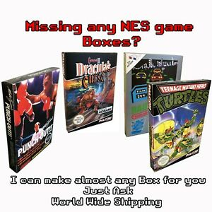 I Will Make Almost Any Nintendo Game Box For You From Card - NES See my Feedback