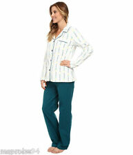 BCBG Flannel Pajamas Shirt/Pants Set M Medium I'll Sleep Tomorrow Green
