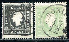 ÖSTERREICH L+V 1858 7-8II gestempelt TADELLOS 210€(A9320