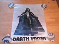 Vintage 1977 DARTH VADER Star Wars 20 X 28 Poster old rare light saber movie