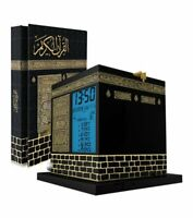 MIRAC Kaaba Design Azan/Prayer Table Cloack Rose scented Holy Qur'an Karim Book