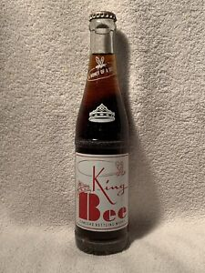 FULL 9oz KING BEE COLA ACL SODA BOTTLE CONCORD, N.C.