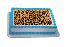 Novelty Leopard Print Themed A4 Edible Icing Cake Topper birthday