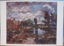Art Postcard JOHN CONSTABLE Painting FLATFORD MILL from STOUR England UK Suffolk