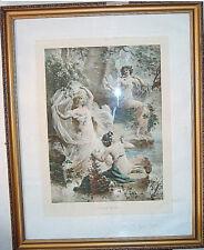 Lithographie, par Hans ZATZKA (1859-1945), l'Oracle des bois