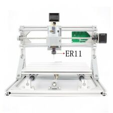 Mini DIY CNC 2418+ w/ ER11 Router Kit Wood Carving Engraving PCB Milling Machine