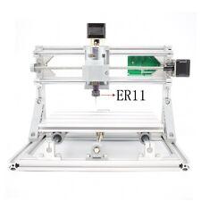 Mini DIY CNC 2418+ with ER11 Router Kit USB Wood Engraver PCB Milling Machine