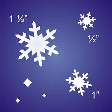 Prim Holiday SM. Stencil White Christmas Snowflakes Seasonal Craft Sign Blocks
