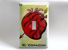 El Corazon Single Light Switch Plate Cover Heart