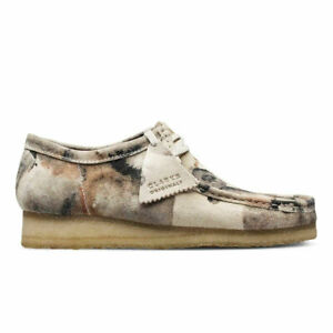CLARKS Women's Off White Camoflage Wallabee Loafers #49446 NIB