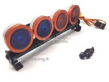 BARRA LUMINOSA 4 LED BLU ROSSO IN METALLO ATT. FUTABA VRX T983BR X 1-8 1-10 1-16