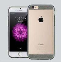 Coque Transparente gel souple avec effet paillette Grise (haut et bas) iPhone 6