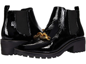 new Tory Burch Jessa 45 mm Lug Sole Leather Chelsea Boots in Perfect Black  8,5
