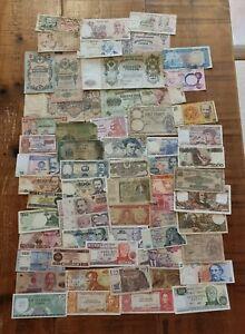 Mixed Lot of 50 World Banknotes.