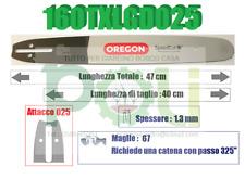 BARRA OREGON SPEED CUT 160TXLGD025 40 CM PASSO.325 SPESSORE 1,3mm 67 MAGLIE