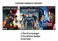 CAPTAIN AMERICA TRILOGY PART 1 2 3 MOVIE FILM MARVEL TRIPLE Original UK DVD R2