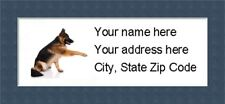 "German Shepherd Return Address Labels  - Personalized ""BUY 3 GET ONE FREE"""