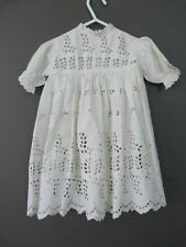 Antique broderie anglaise dress for a large doll