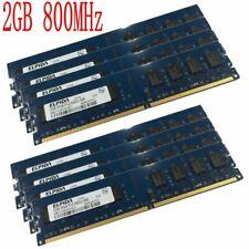 16Gb 8Gb 4Gb 2Gb 1Gb Pc2-6400U 800Mhz 240Pin Intel Desktop Memory For Elpida Lot